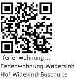 Ferienwohnung Wadersloh Hof Widekind-Buschulte QR Code