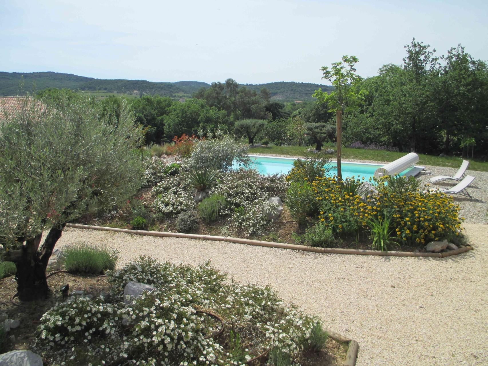 La piscine du Mas de Molines à Vogüé