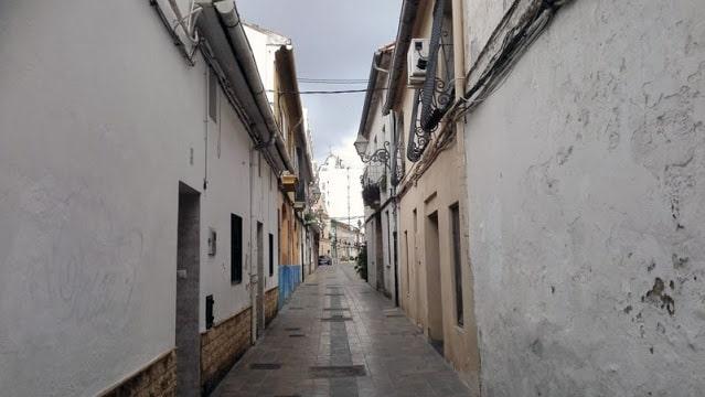 Calle del antiguo pueblo de Benimaclet hoy convertido en un barrio de la ciudad de Valencia.