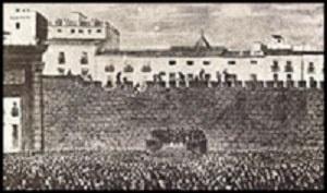 """La Ciudad de Valencia """"España """"contaba con una muralla medieval que rodeaba la ciudad, y fue derribada  por el crecimiento de la población y la expansión de la capital del Turia."""