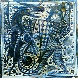 """""""Rodó"""" italiano del siglo XV, obra atribuida a Benedetto da Maiano."""