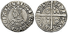 Monedas con la efinge del rey Pedro de Aragón.