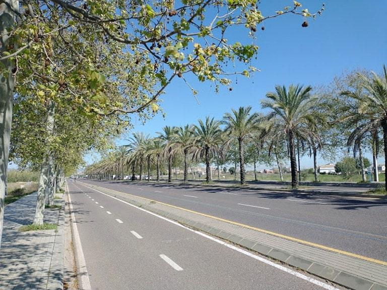 Ronda Norte de Valencia, pasa por la huerta de Campanar, la huerta de Benicalap y la huerta de Torrefiel.