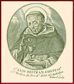 San Luis Beltrán nace el 1 de enero de 1526 en Valencia. Sus padres, Luis y Juana, eran nobles y piadosos.