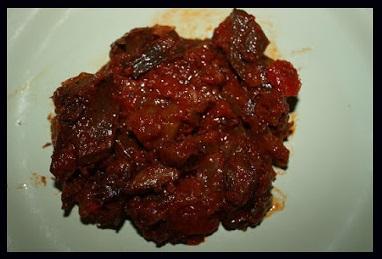 Salsa de tomate con rebollones a la valenciana