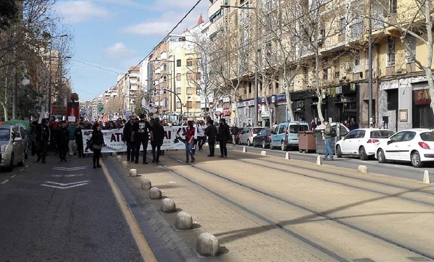 Manifestación vecinal en el barrio de Benimaclet (València) contra el PAI y contra la empresa Metrovacesa.