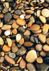 Piedras del playa del Prat d  Cabanes y Torreblanca