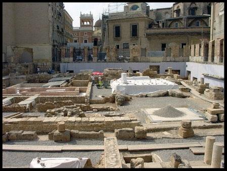 Ruinas romanas de la ciudad de Valentia, actual Valencia (España)