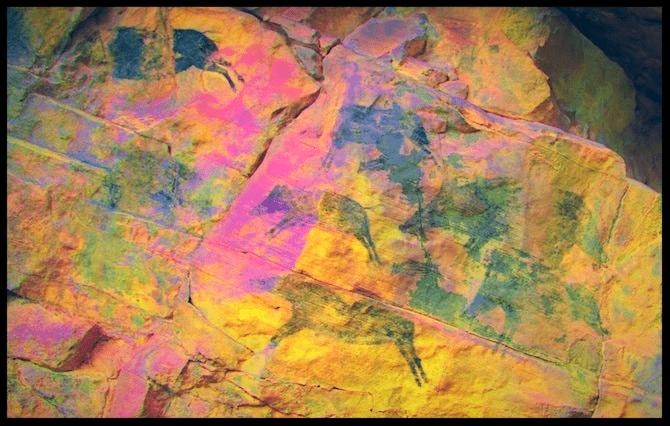 Pinturas rupestres de hace  7.000 años Villafranca del Cid (Castellón)