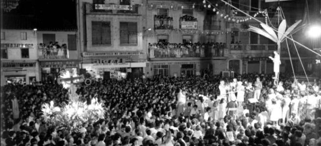 Fiesta tradicional valenciana. Els porrots: Danza guerrera de Silla.