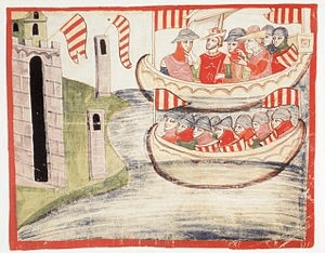 Pedro III de Aragón en Trapani (Sicilia), en 1282. Foto Wikipedia