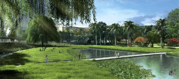 Imágen del futurista y magnifico Parque central de València (España)