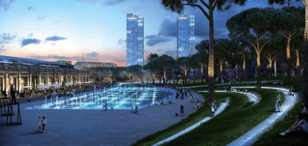 Imágen del futurista Parque central de València (España)