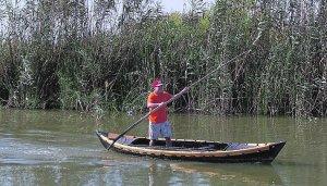 a barca a Pexa es una modalidad tradicional de navegar por el lago de la Albufera de Valencia que se empuja con un palo largo.