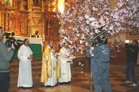 Fiesta de la entrada de la flor en Torrente, con la llegada de la primavera.