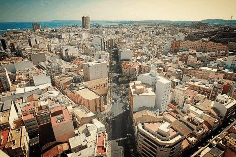 Ciudad de Alicante (Comunidad Valenciana) España.