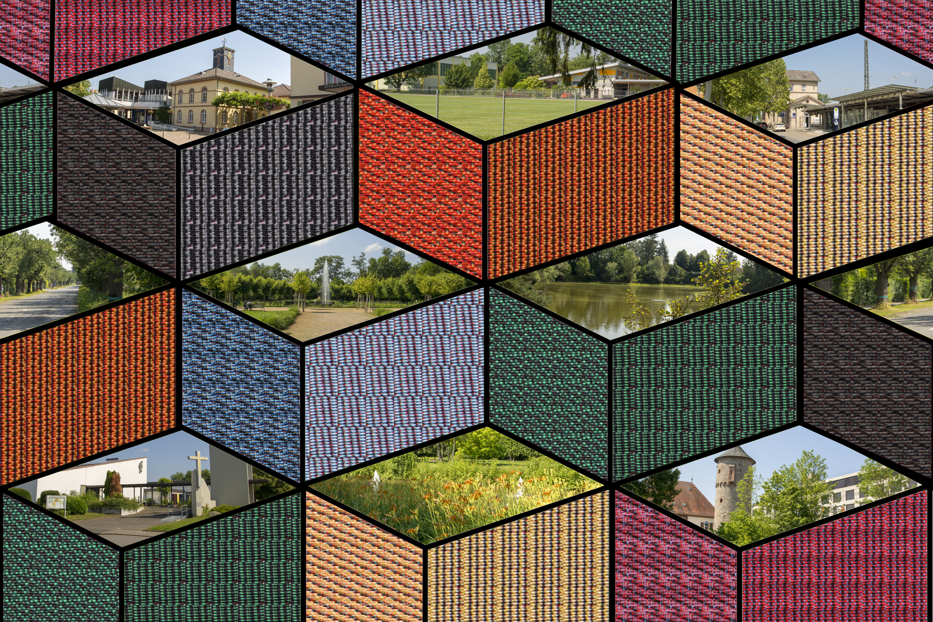 Collage Dieburg Quader