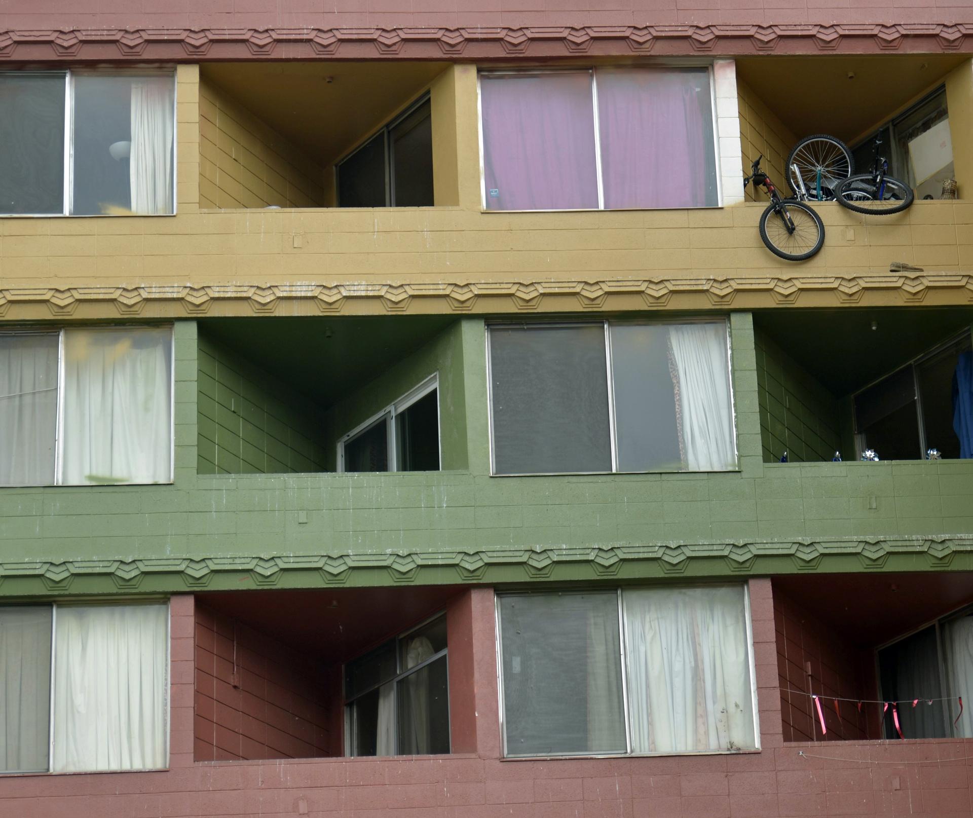 Bild mit bunter Fassade