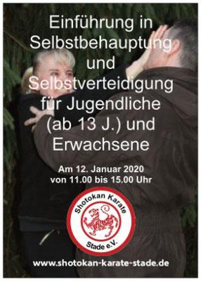 Vorderseite: Einführung in Selbstbehauptung und Selbstverteidigung für Jugendliche und Erwachsene Anfang 2020
