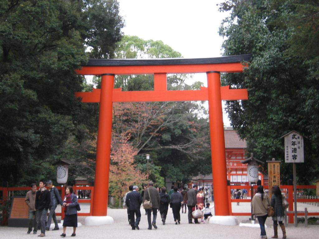 """鳥居があります。あたりまえですが。""""Torii"""" is a gate of Shimogamo shrine"""