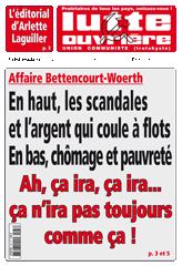 Lutte Ouvrière n°2187 du 2 juillet  2010