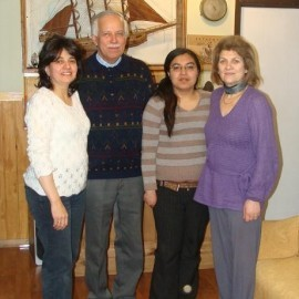 De Izquierda a derecha: Gina Peruzovic,  Alejandro Avila,   Paola Vera y M. Angélica Simunovic