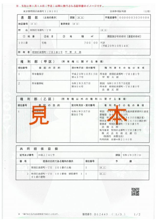 証明 書 登記 事項 法務局