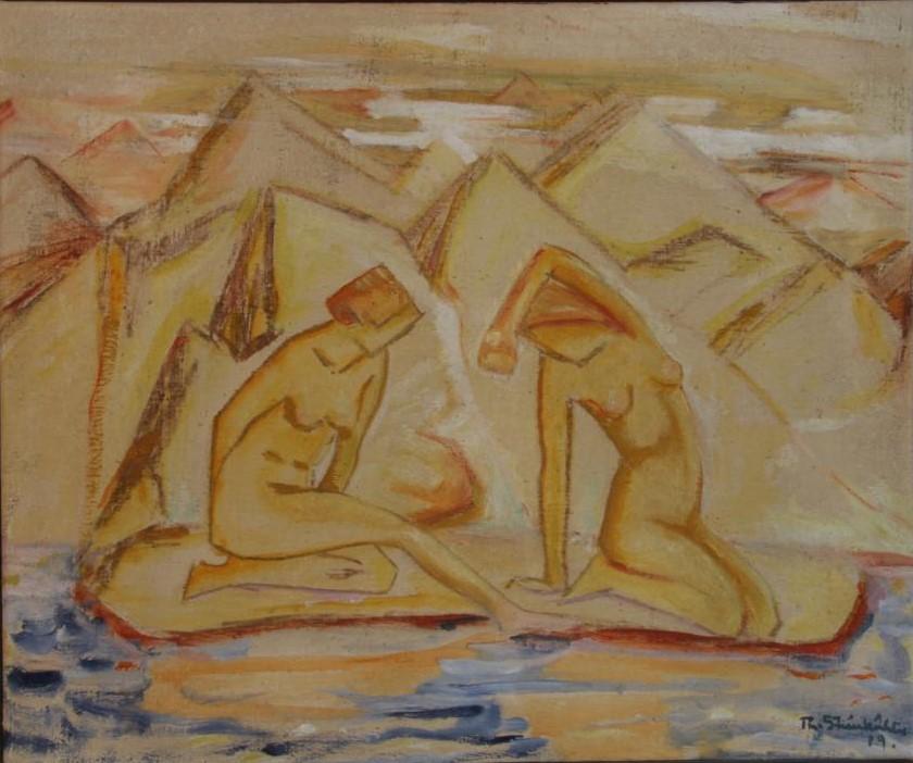 Theodor Steinkühler: Die Badenden, 1919