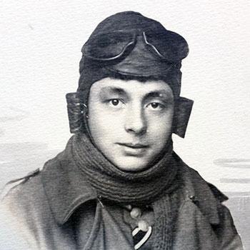 Theodor Steinkühler in Fliegeruniform 1918