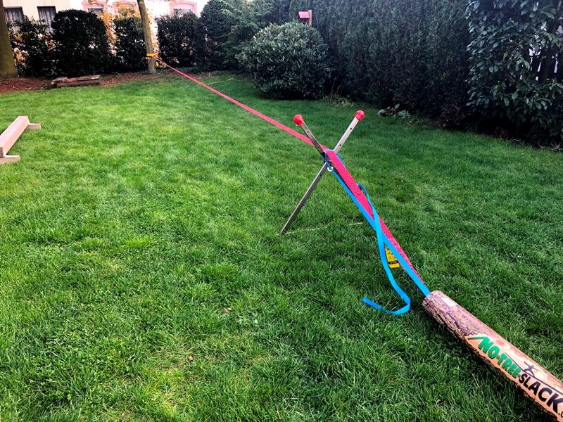 Bewertung 2019-04-19: Sehr gute Lösung für unseren Garten. Das Produkt macht einen super Eindruck und funktioniert bisher tadellos. Familie und Gäste haben in den ersten Wochen schon viel Spaß gehabt. Ich habe NoTreeSlack schon anderen Leuten empfohlen.