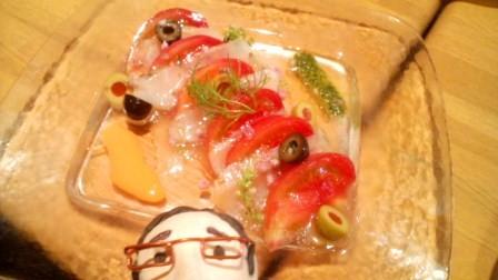 スズキ&トマト&オリーブの夏仕立てカルパッチョ¥660