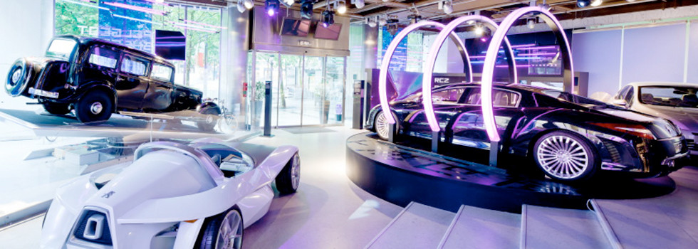 scenographie design showroom automobile techno evenement
