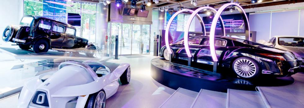 scenographie design showroom automobile techno evenement