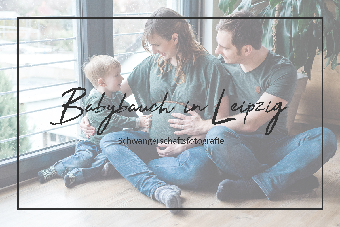 Schwangerschaft Fotoshooting zuhause in Leipzig - Schwangerschaftsfotografie
