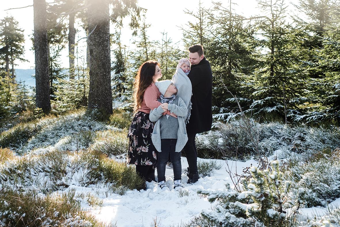 Familien Fotoshooting Leipzig, Familienfotos Leipzig, Fotoshooting im Schnee