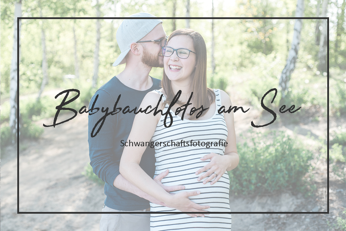 Babybauch Fotoshooting am See in Leipzig - Schwangerschaftsfotografie