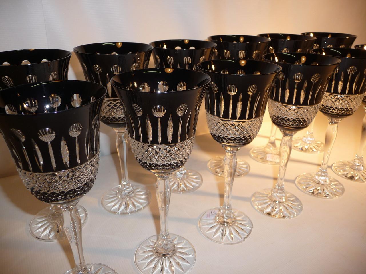 Cristal baccarat saint louis antiquit s edelweiss - Bout de verre dans le pied ...