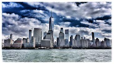 New York, Downtown Manhattan, Skyline, Oktober 2017