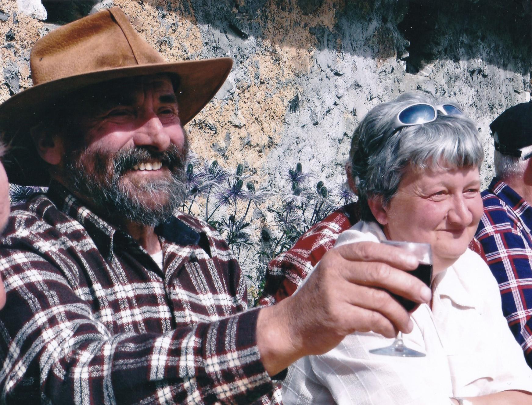Madeleine et Jean-Paul Es-Borrat, anciens gardiens (été 2007)