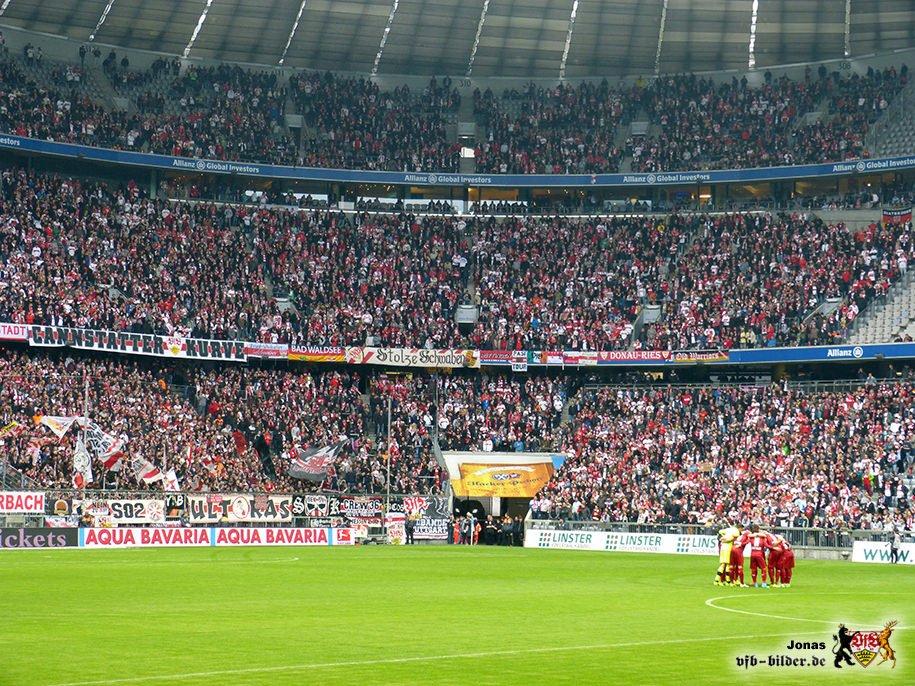 Über 10.000 Mitgereiste Stuttgarter sorgten in der Münchner Allianz-Arena für eine Heimspiel-Atmosphäre. (Foto: vfb-bilder.de / mit freundlicher Genehmigung)