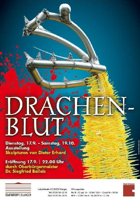 Ausstellung Drachenblut von Dieter Erhard bei ikratos