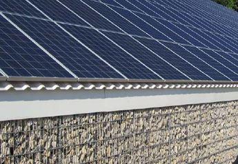 Gabionen Carport solar gabionen zaun solar photovoltaik waermepumpe