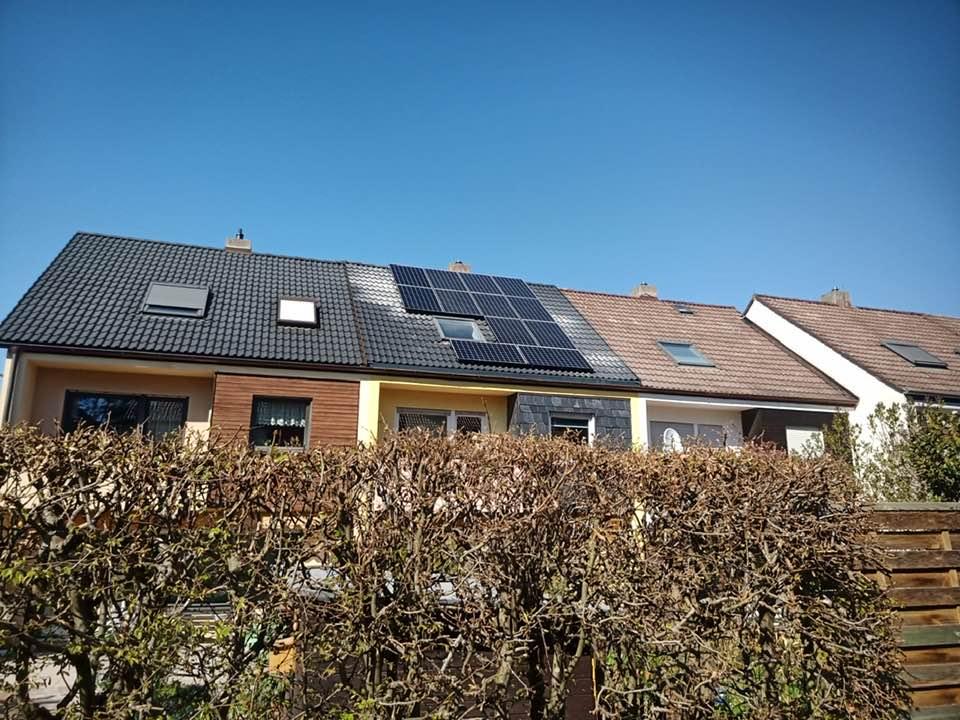 Solar auf Reihenhaus mit Abstand 1,25 m