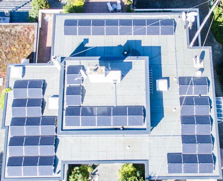 Solar auf Ost und West Seite
