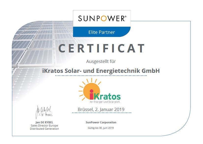 SunPower Solar Elite Partner Deutschland ikratos