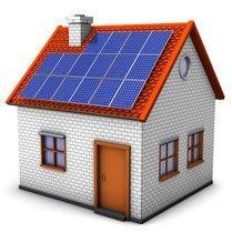 Solar af dem Haus Wärmepumpe für die Heizung