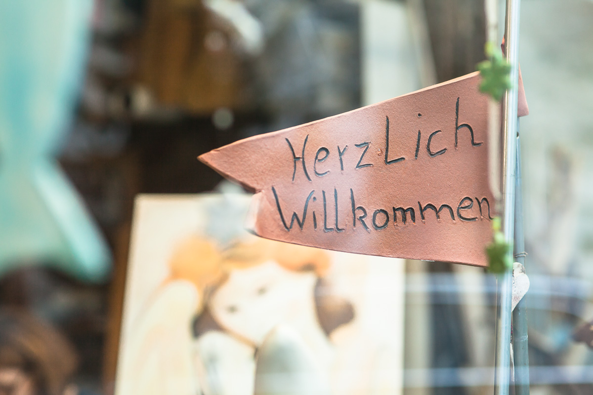 """""""Herzlich Willkommen""""-Fahne"""