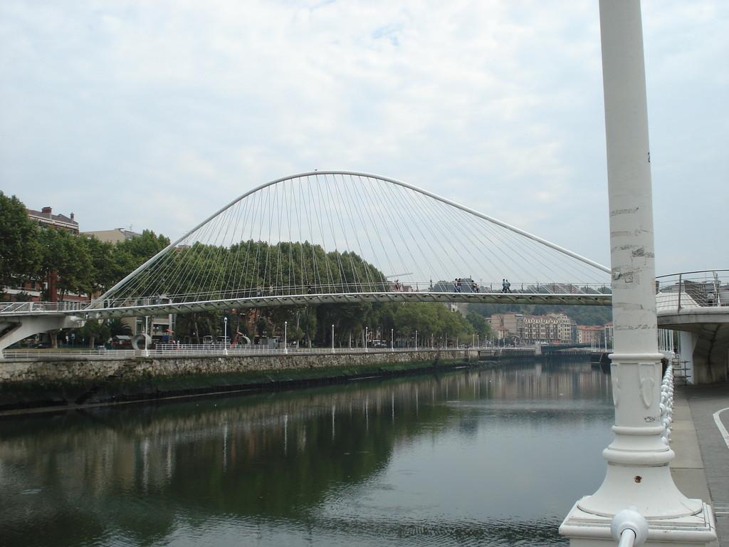Der Fluss Ría, der mitten druch Bilbao fliesst, hat viele schöne Brücken