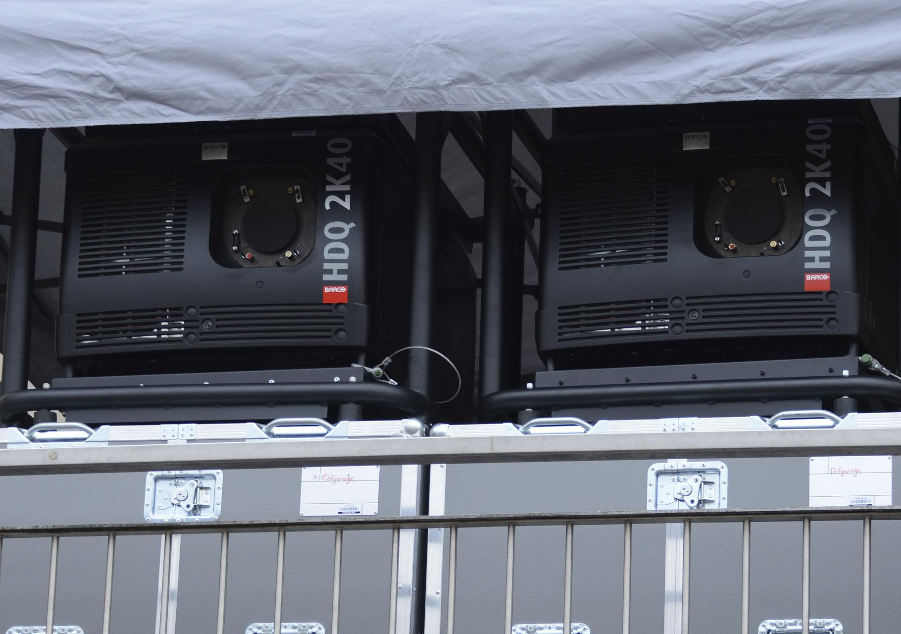 Videoprojektoren von Barko mit 40.000 ANSI-Lumen