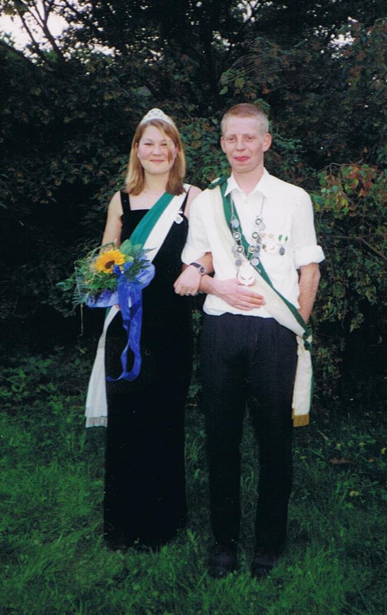 Jungschützenkönigspaar 2000: Mirko Wick und Natalie Wickel